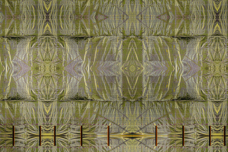 Curtain Gold Green
