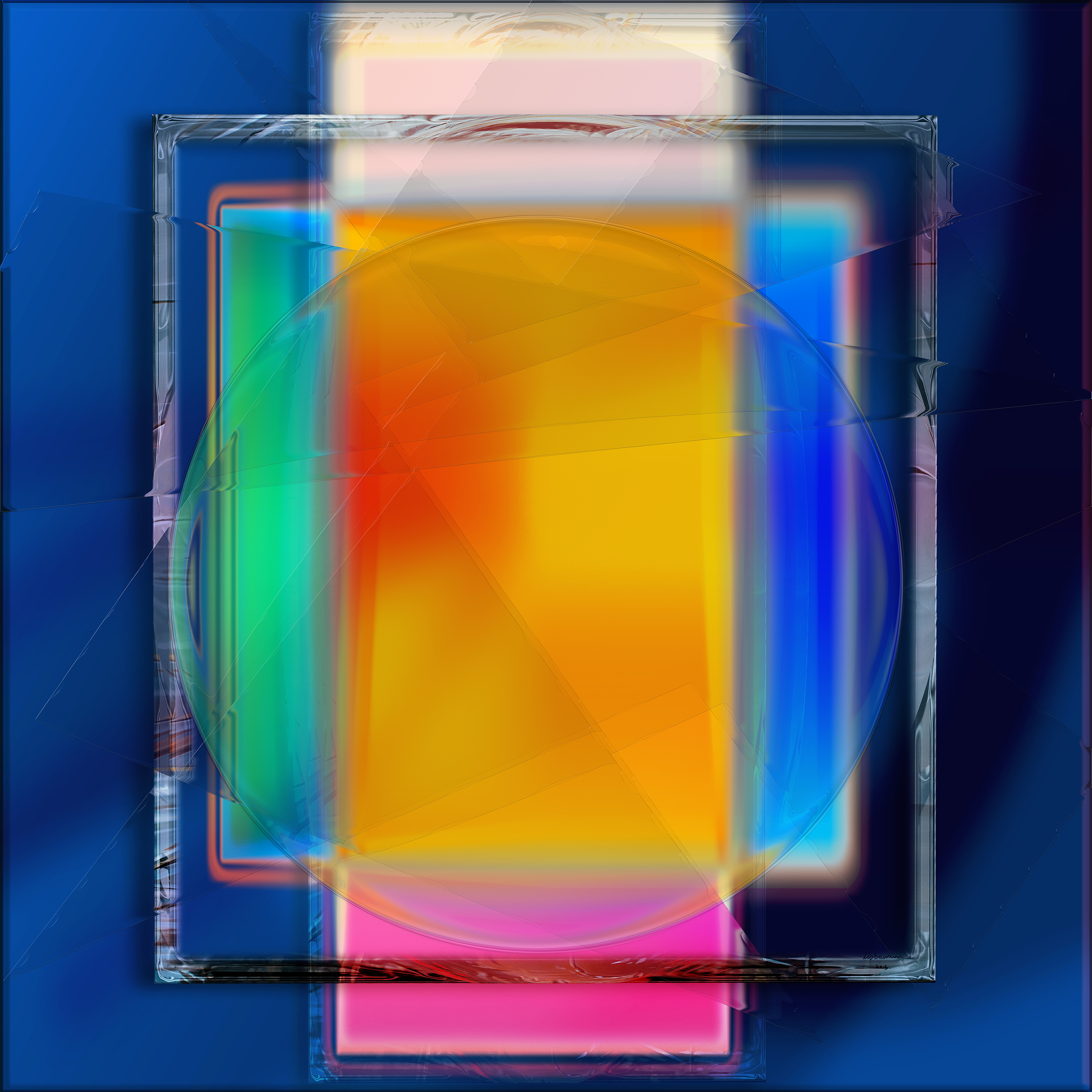 Framed Color Square pure