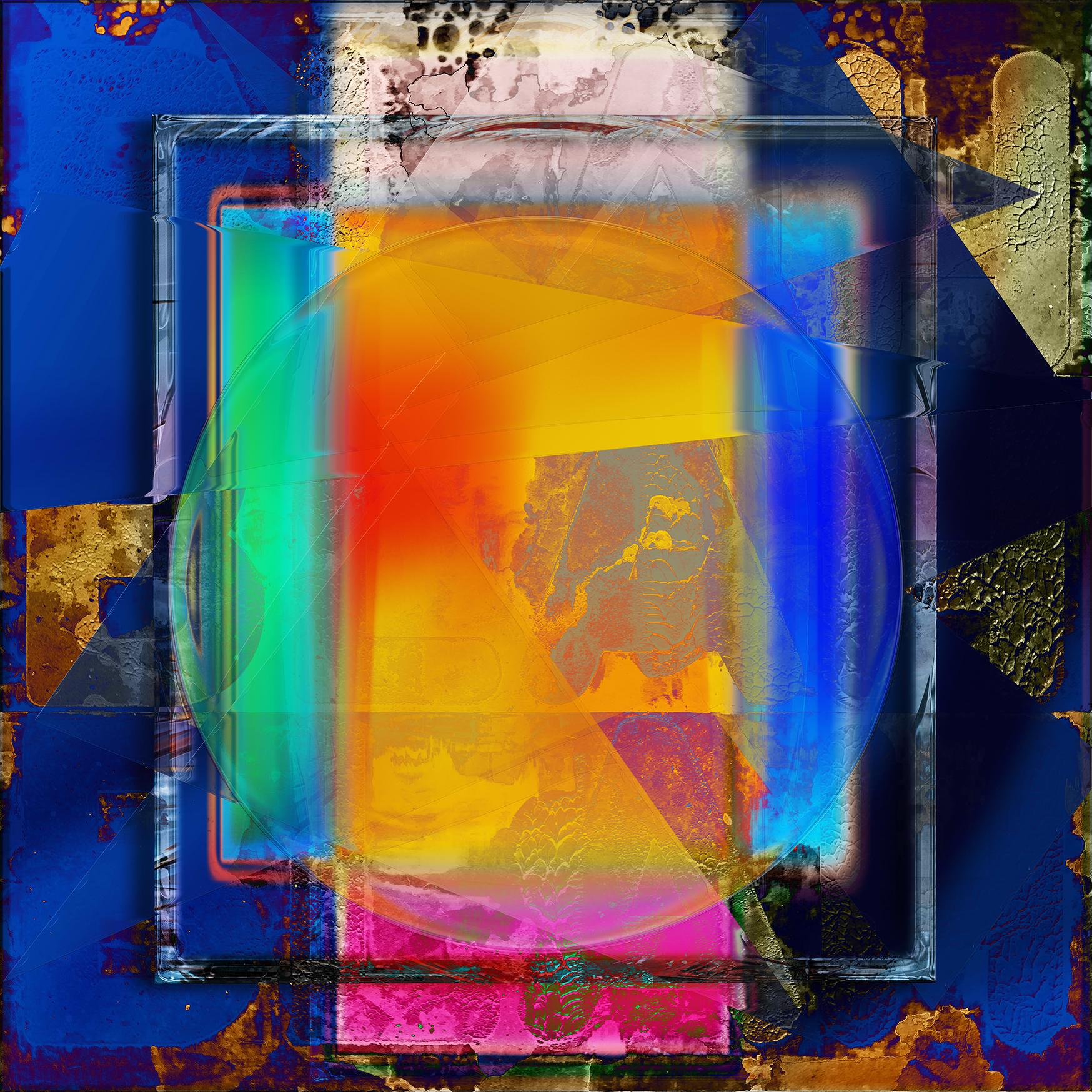 Framed Color Square I