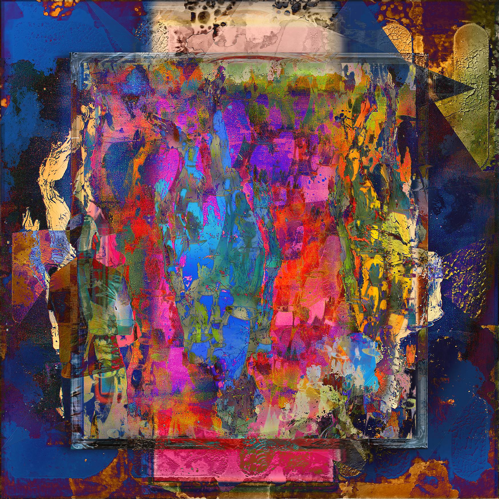 Framed Color World I