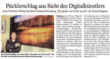 21 08 19 Thüringer Allgemeine Wittig als Digitalkünstler zurück im Schloss Ettersburg mit The Glade out of the woods Image 0005 Kopie